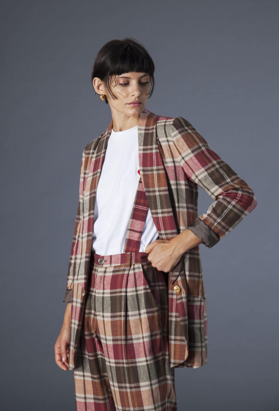 Savana Jacket checks cotton