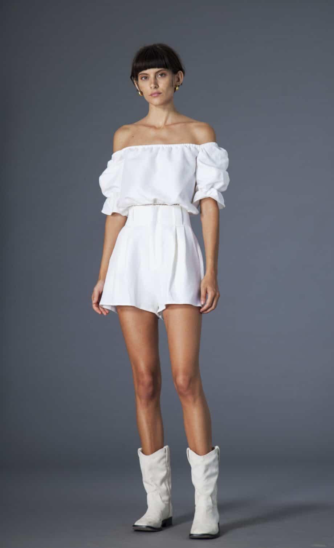 Gilda shorts cotton and linen