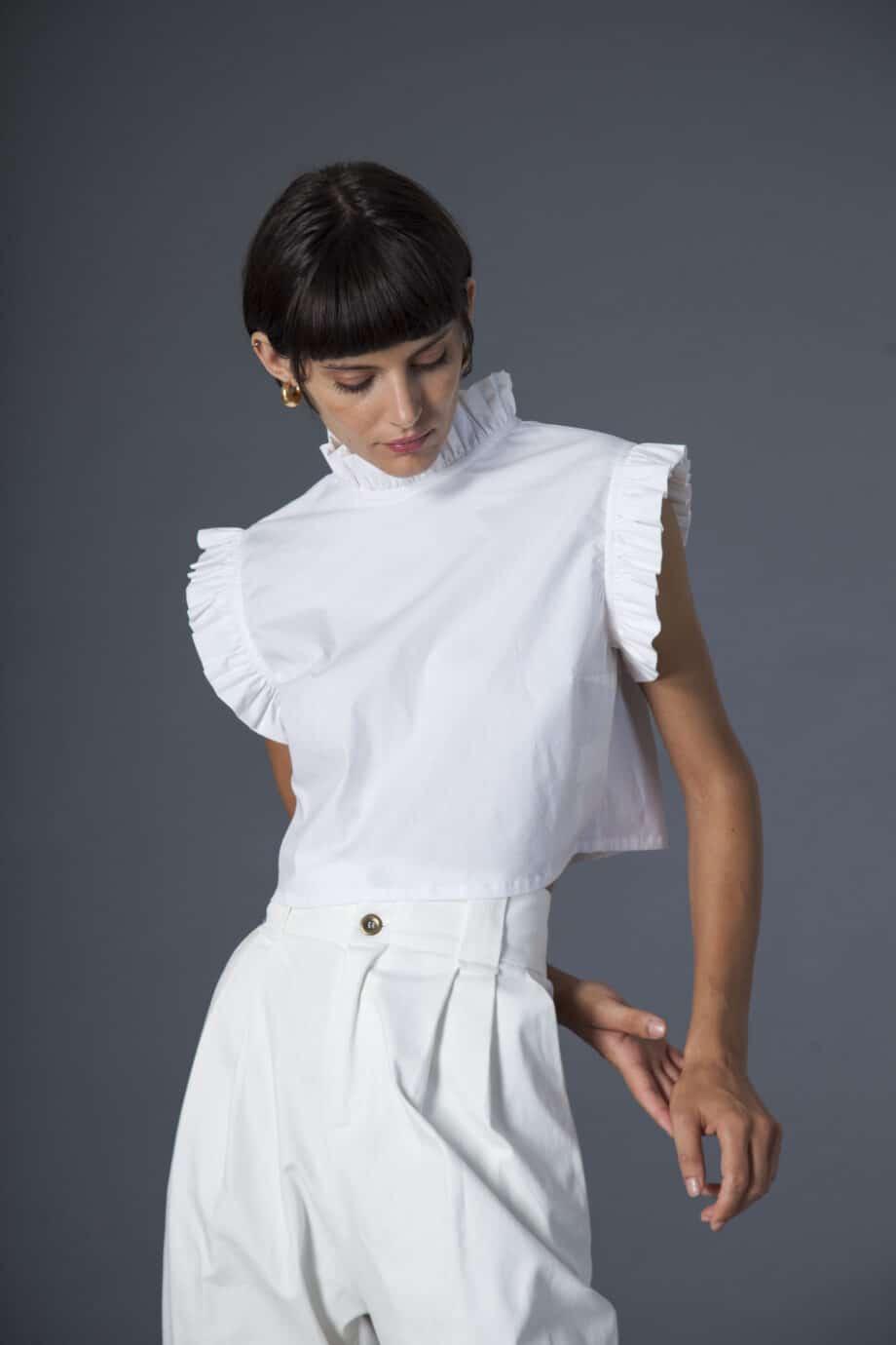 Gilda pants white denim