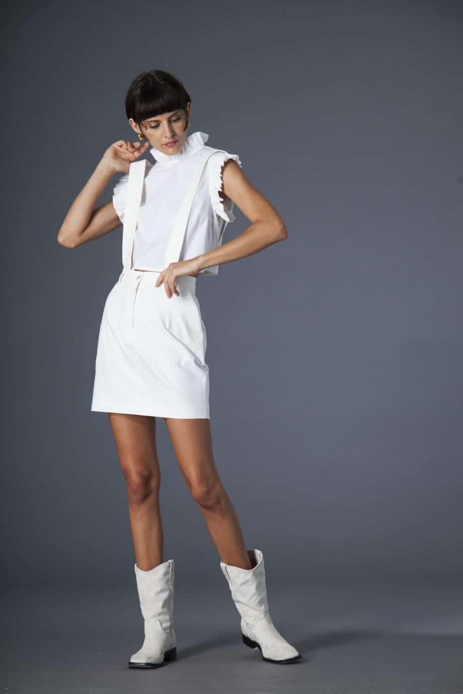 Mia Skirt white denim