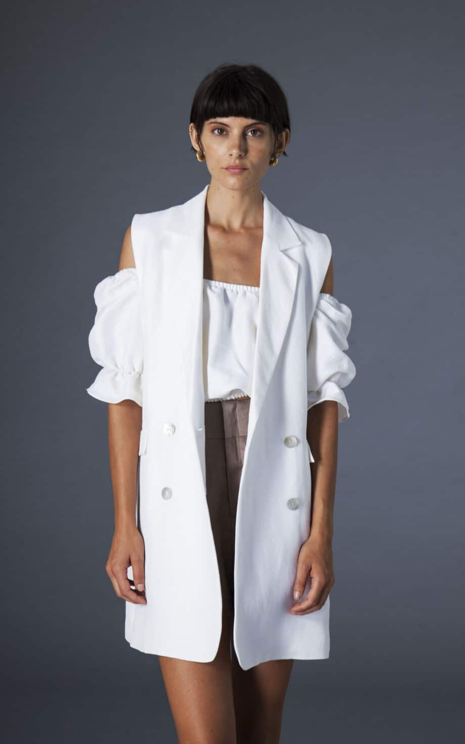 Mila Gilet linen and cotton