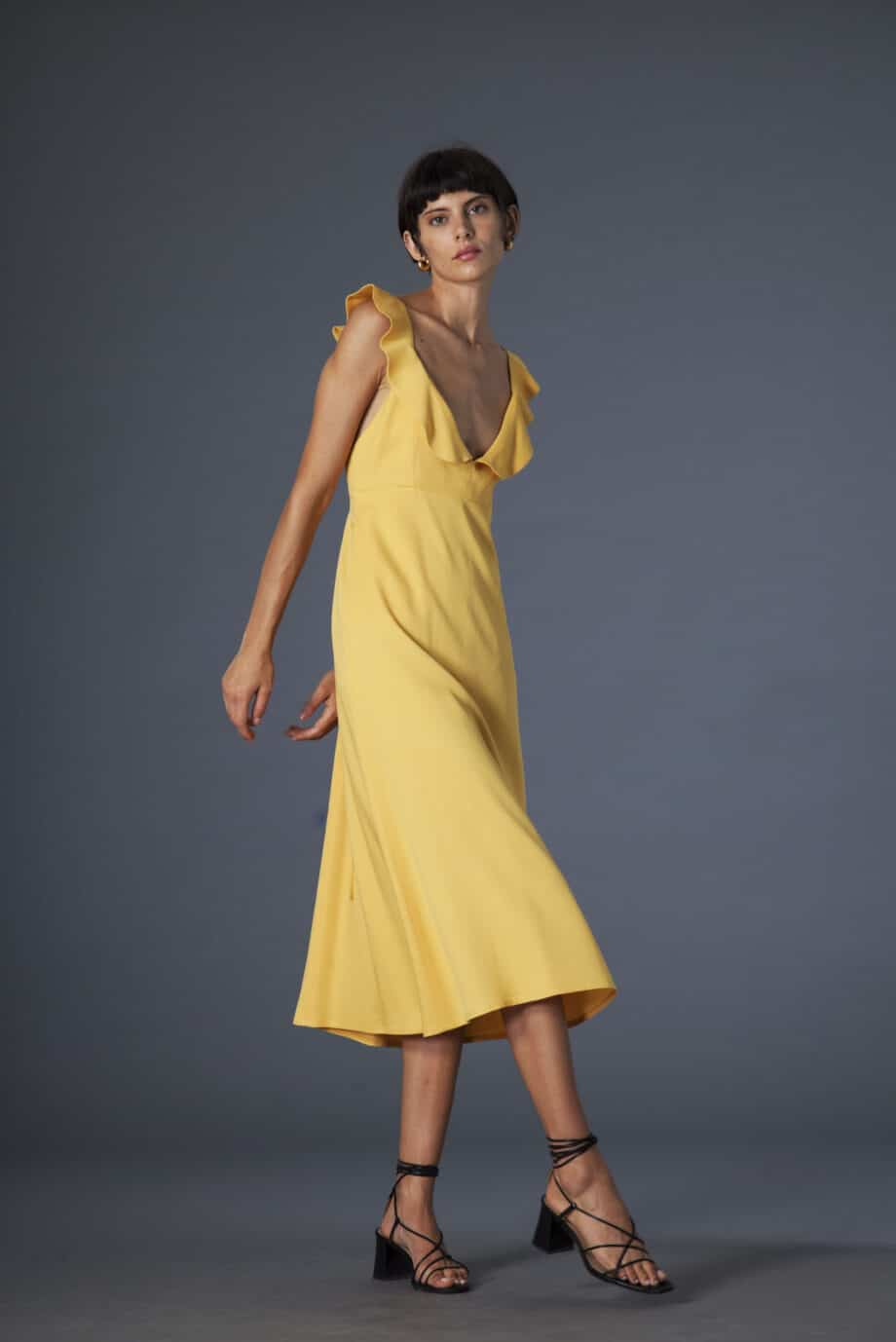 Niki dress yellow